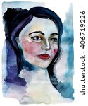 hand drawn watercolor... | Shutterstock . vector #406719226