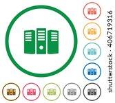 set of server hosting color...