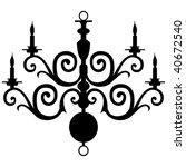vector chandelier silhouette | Shutterstock .eps vector #40672540
