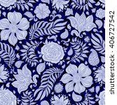 abstract vector floral seamless ... | Shutterstock .eps vector #406727542