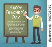 happy teacher's day. teacher... | Shutterstock .eps vector #406728082