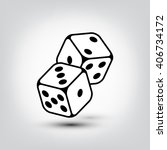 dices icon. dices illustration   Shutterstock . vector #406734172