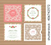 wedding invitation or greeting... | Shutterstock .eps vector #406742572