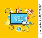 seo concept | Shutterstock .eps vector #406750288