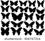 vector silhouette set of...