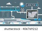 eco smart network city | Shutterstock .eps vector #406769212