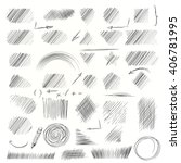 hand drawn scribble shapes. a... | Shutterstock .eps vector #406781995