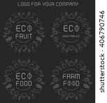 organic labels set  | Shutterstock .eps vector #406790746