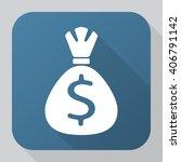 money bag icon vector  solid...