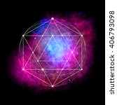 sacred geometry abstract vector ... | Shutterstock .eps vector #406793098