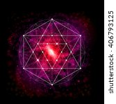 sacred geometry abstract vector ... | Shutterstock .eps vector #406793125