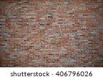 red brick wall or old dark... | Shutterstock . vector #406796026