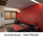 3d rendering and design  modern ... | Shutterstock . vector #406798186