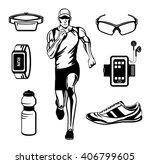 running man vector illustration.... | Shutterstock .eps vector #406799605