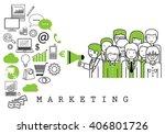 marketing team on white... | Shutterstock .eps vector #406801726