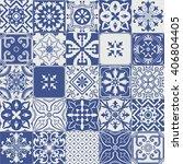 big vector set of tiles...   Shutterstock .eps vector #406804405