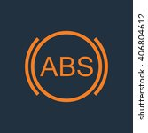 abs icon. brakes antilock... | Shutterstock .eps vector #406804612