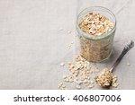 healthy breakfast organic oat...   Shutterstock . vector #406807006