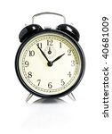 isolated vintage alarm clock | Shutterstock . vector #40681009