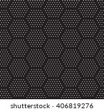 hexagonal dots seamless pattern | Shutterstock .eps vector #406819276