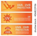 uv protection banner vector .... | Shutterstock .eps vector #406822936