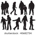over ten people silhouettes... | Shutterstock .eps vector #40682734