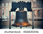 liberty bell and independence... | Shutterstock . vector #406830346