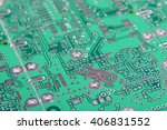 abstract pcb fragment | Shutterstock . vector #406831552