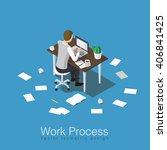 work process concept isometric... | Shutterstock .eps vector #406841425