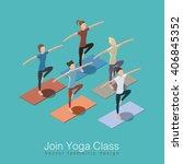 join yoga class isometric... | Shutterstock .eps vector #406845352