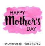 happy mother s day  vector... | Shutterstock .eps vector #406846762