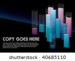 cool dimension box background... | Shutterstock .eps vector #40685110