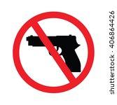 No Gun Sign.vector Illustration.