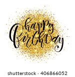 happy birthday to you text as... | Shutterstock .eps vector #406866052