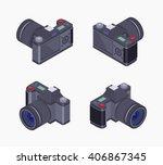 set of the isometric digital... | Shutterstock .eps vector #406867345
