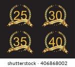 anniversary template design... | Shutterstock .eps vector #406868002
