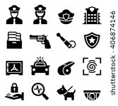 police   security guard icon | Shutterstock .eps vector #406874146