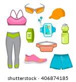 running gear for women. running ... | Shutterstock .eps vector #406874185