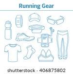 running gear for men and women. ... | Shutterstock .eps vector #406875802