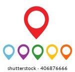 mapping pins icon | Shutterstock .eps vector #406876666