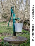 Vintage Green Hand Water Pump...