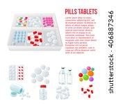 packaging of medicines  various ... | Shutterstock .eps vector #406887346