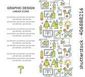 graphic design seamless pattern ...   Shutterstock . vector #406888216