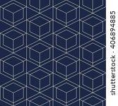 seamless geometric. vector... | Shutterstock .eps vector #406894885