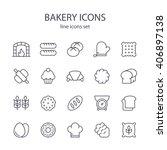 bakery icons.   Shutterstock .eps vector #406897138