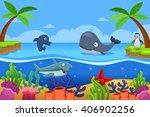 a vector illustration of marine ... | Shutterstock .eps vector #406902256