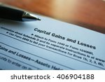 taxes stock photo capital gains ... | Shutterstock . vector #406904188