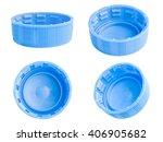 blue plastic bottle cap...   Shutterstock . vector #406905682
