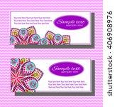 set of wedding cards. wedding... | Shutterstock .eps vector #406908976