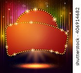 shining background with retro... | Shutterstock .eps vector #406914682
